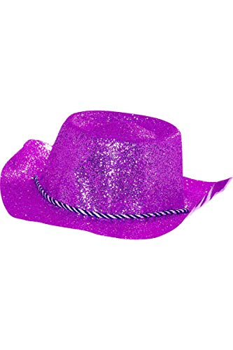 Chapeau plastique cow-boy paillettes