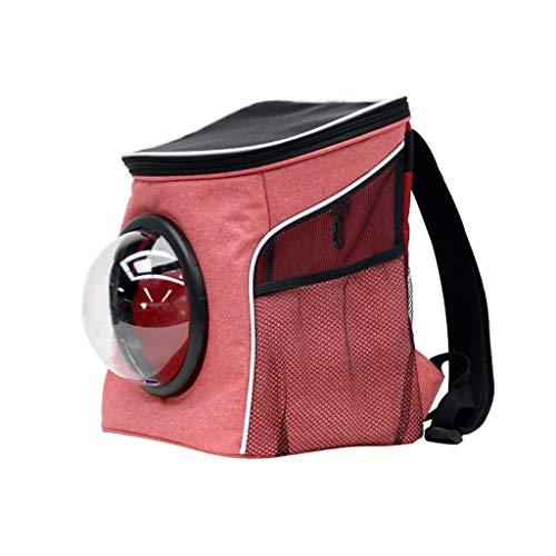 IAOHUO Haustier Rucksack, Cat Bag Out Tragetasche Cat Bag Hund Rucksack Cat Rucksack Raumkapsel Pet Bag Out Bag (Color : Pink, Size : L)