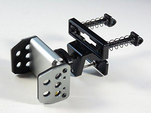 【ガンメタ】【ロングフック付】アルミ製iPhoneスマホホルダーH510エアコンルーバーfitボールジョイントタイプ