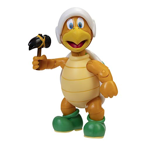 SUPER MARIO Action Figure 4 Inch Hammer Bro Collectible Toy with Hammer Accessory