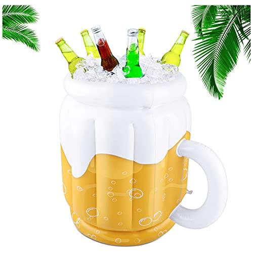 Secchiello gonfiabile da birra per feste estive, a forma di tazza, per feste a tema hawaiane, Luau, piscina, spiaggia, 44 x 32 cm