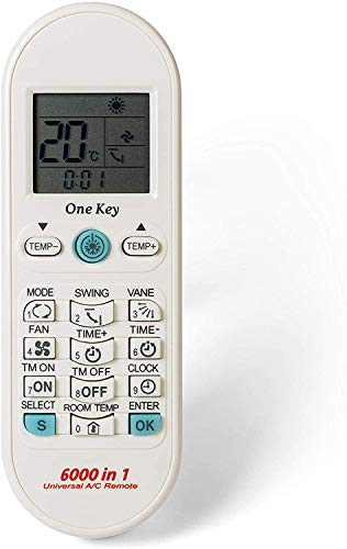 RP3 Mando Aire Acondicionado Universal Split, Conductos, Cassettes, 6000 Códigos Diferentes, Control Remoto Universal A/C