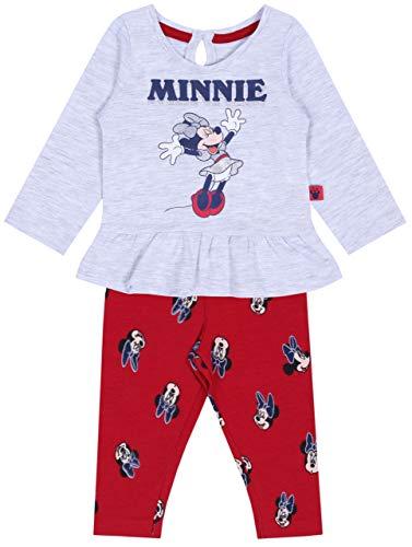 Grijze melange + rode Minnie Mouse Disney leggings
