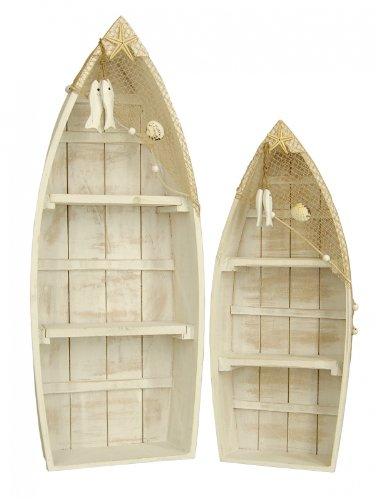 Reinhold W. Heim Dekoobjekt 'Ruderboot' Kiefernholz, 19 x 7 x 47 cm, 25 x 9 x 60 cm, 2-Teilig (2er Pack)