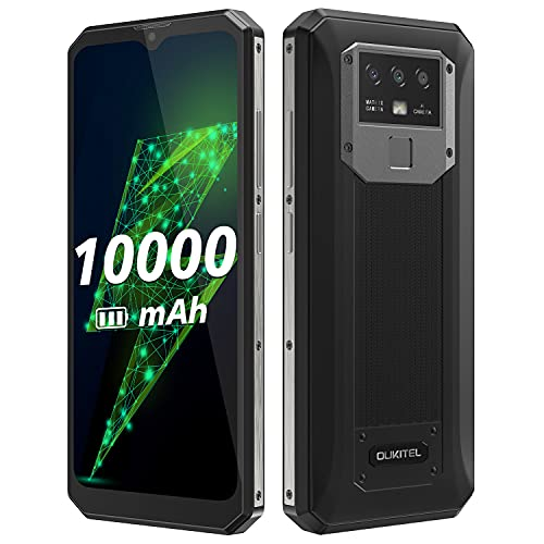 10000mAh-Akku Smartphone ohne Vertrag OUKITEL K15 Plus, 18W Schnellladung+Rückladung, 3GB+32GB, 13MP Dreifachkamera, Android 10 Dual-SIM-Handy, 6,52''HD+,Fingerabdruck-Gesichtserkennung NFC Schwarz