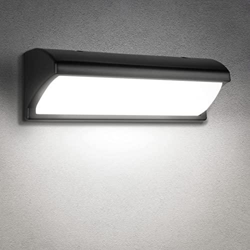 Aplique Exterior con Sensor de Movimiento, 30W Apliques IP65 Impermeable LED Pared Exterior, Decoracion Exterior Lampara Exterior Pared, de Exterior Jardin, Terraza, Balcon Iluminacion (Blanco Frío)