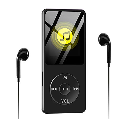 MP3 Player, Wodgreat 8GB MP3 Player Sport MP4 Player 100 Stunden Standby-Zeit Verlustfreien Klang Musik Player mit Kopfhörer Lautsprecher FM Radio E-Book Video Voice Recorder Unterstützt bis 128GB