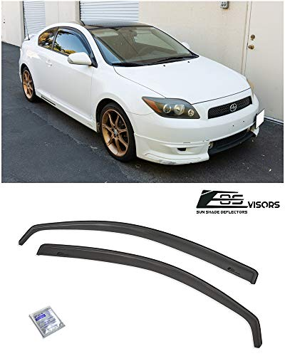 Extreme Online Store for 2005-2010 Scion tC Gen 1 | EOS Visors in-Channel Style JDM Smoke Tinted Side Vents Window Deflectors Rain Guard