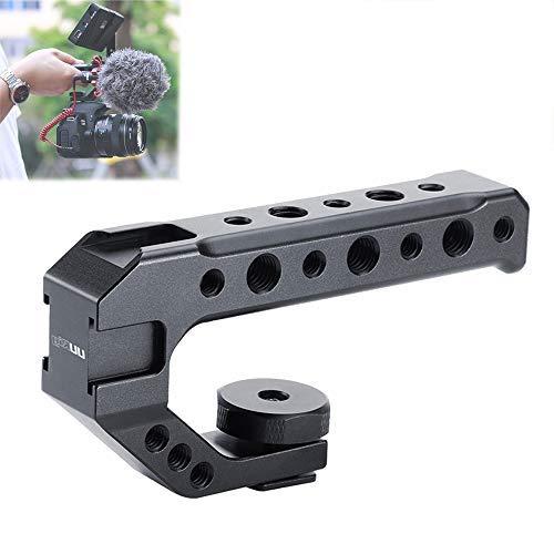 Universal-Kameragriff, Mugast R005-Kameragriff mit Mehreren 1/4 '' und 3/8 '' Gewindelöchern und Kaltschuhhalterung Geeignet für die Installation externer Monitore, Mikrofone usw.