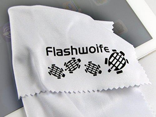 Flashwoife Turtle-RT20W extra feines Micro-faser (Nano-faser) Reinigungstuch 20x20 cm, weiß