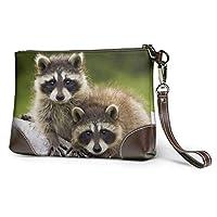 アライグマカップル木材ウォーク クラッチバッグ ファッション メンズ レディース バッグ 財布 本革 クラッチバッグ 大容量 人気 セカンドパック 耐久性 軽量 防水性