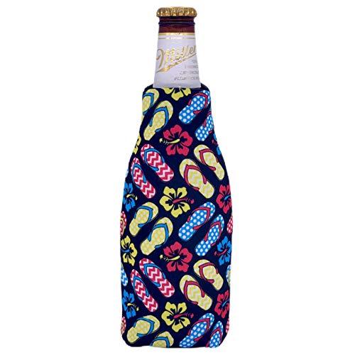 Flip Flop Pattern Beer Bottle Coolie