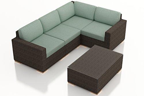 Harmonia Living HL-ARD-CH-5SEC-SP 5 Piece Arden Sectional Set, Canvas Spa Cushions