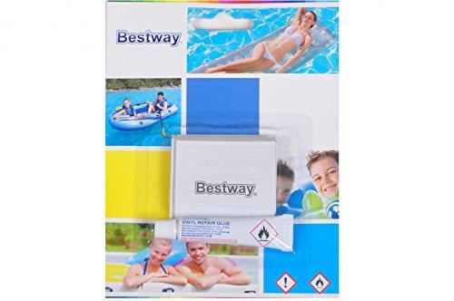Bestway 62022 | Reparaturset für Pool Luftbett etc. | enthält Tube Kleber + Flicken