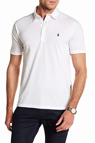 Volcom Men's Banger Polo Shirt, White, Medium