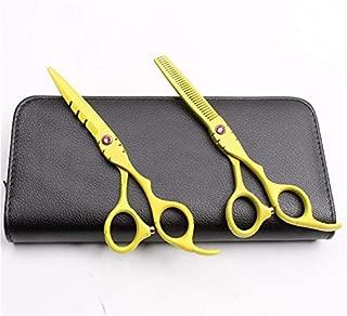 1 lot 2Pcs 6 17.5cm Japan Engraving Logo Hairdresser's Scissors Thinning Scissors Cutting Shears Professional Hair Scissors Set C1010