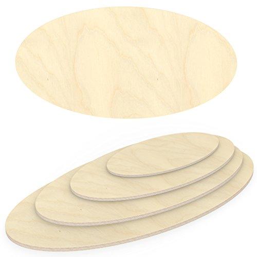 AUPROTEC Multiplexplatte 30mm Ellipse 1100 mm x 600 mm Holzplatten von 40cm-200cm auswählbar elliptische Sperrholz-Platten Birke Massiv Multiplex Holz Industriequalität z.B. als Tisch-Platte