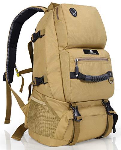登山 リュック 40L 大容量 バックパック リュックサック 防水 軽量 山登り バック 多機能 キャンプ用リュック 防災バッグ キャンプ ハイキング 海外旅行に適用 (カーキ色)