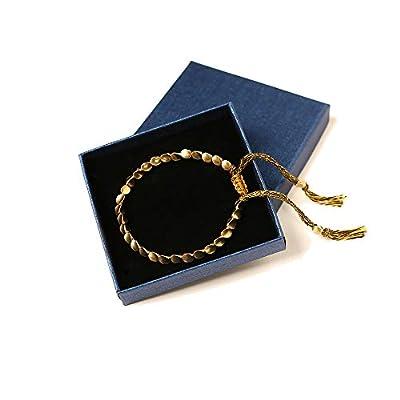 Handmade Tibetan Copper Bead Bracelet, Metal Unisex Bracelet, Apply to Mens and Womens Wrist Jewelry (C)