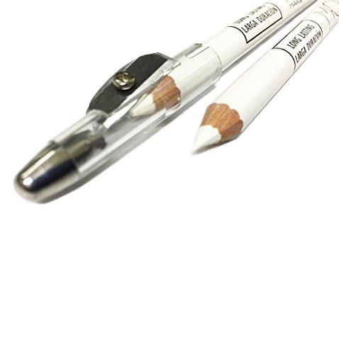 M·O·I Profesional Lapicero Blanco Uso Perfilador de Ojos o para Marcaje Piel Esp. Láser 00, con Sacapuntas,