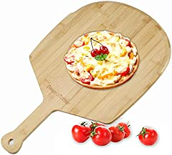 15 W/23 L Large Pizza Peel with Handle,Bamboo Cutting Board Charcuterie Board,Suitable for Homemade Baking Pizza and Bread,Cutting Fruits Vegetables and Cheese Board Serving Tray