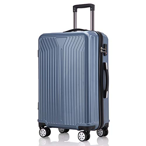 レーズ(Reezu) スーツケース ファスナー式 軽量 キャリーケース ジッパー 耐圧擦り傷防止 キャリーケース 機内持込 キャリーバッグ 人気 大型 TSAロック付 静音 旅行出張 1年保証 Blue ブルー Mサイズ 約68L