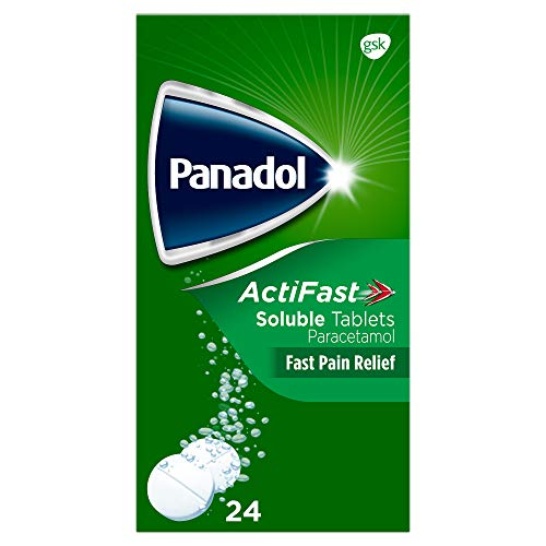 Panadol ActiFast Pain Relief Tablets, Soluble Paracetamol Tablets, Pack of 24