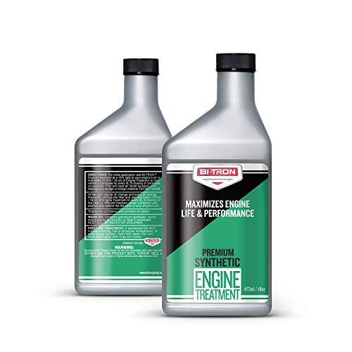 Bitron Synthetic Oil Additive (16oz) - Legendary Friction Modifier Engine Treatment for All Engines, Heavy Duty and High Mileage, Eliminates Dry Starts, Reduces Noise and Heat, Increases Performance