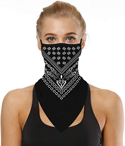 Neck Gaiter Ear Hangers Face Mask Cover Scarf Balaclava Seamless Bandana Breathable Wind UV Protection Motorcycle Cycling Festival