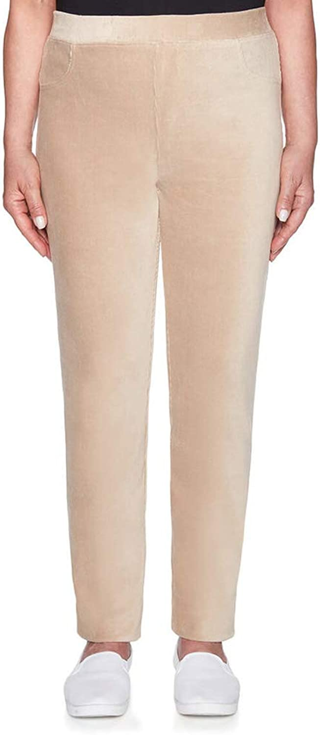 Alfred Dunner Women's Home for Holidays Knit Corduroy Slim Pant