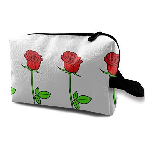 Trousse de Toilette pour Femme de Roses Fleurs de Multifonction de Contour avec Fermeture éclair