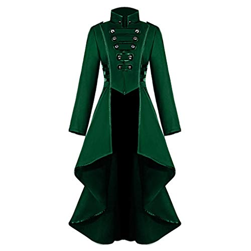 Fantastic Prices! Kiminana Women's Button Lace Steampunk Vintage Button Long Tail Long Trench Coat J...