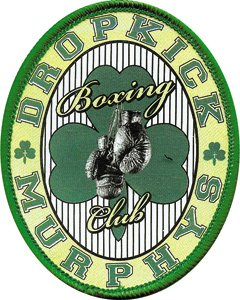Dropkick Murphys - Boxing Club Oval Logo with Shamrock / Clover - Printed with Embroidered Edge - Iron On or Sew On Patch