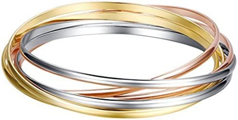 Shally Women's Gold Tone Hinged Cuff Bracelets