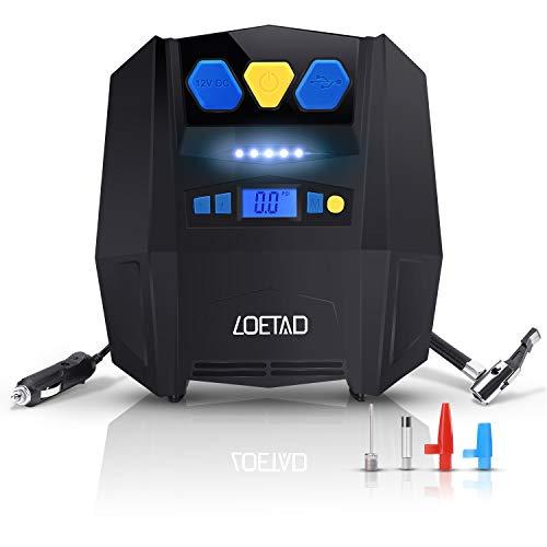 Loetad - Compresor de aire portátil para neumático (eléctrico, digital, 12V, 150PSI máx.)