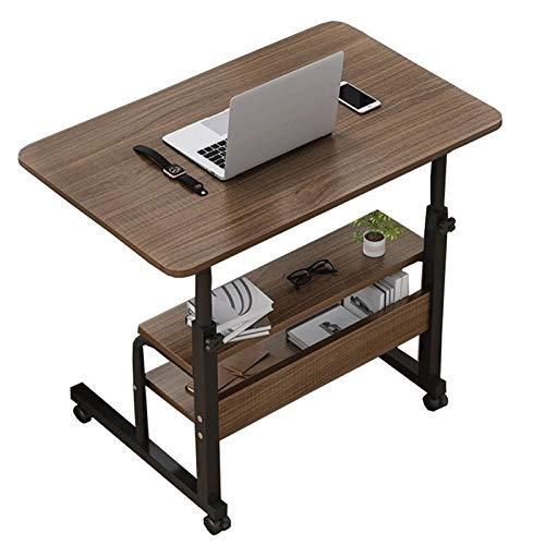 Estaciones de Trabajo informáticas Mesa Ajustable sobre Ruedas con Ruedas, Mesa de Noche Escritorio de computadora, Mesa de Cama de sofá Cama Extremo Grande para casa de Hospital como Bandeja de Cama