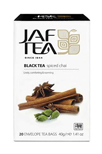 JAF TEA Schwarzer Tee - Gewürzter Chai - 20 Teebeutel
