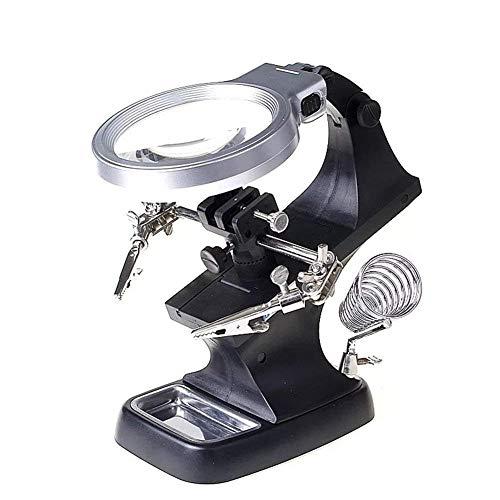 ZHAOJ Herramienta de Lupa de Mantenimiento 8X Reloj de Vidrio multifunción de Escritorio Teléfono Celular Amplificador de Soldadura electrónico Herramienta de Lectura
