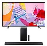Samsung QN58Q60TA 58' 4K QLED Dual LED Ultra High Definition Smart TV with a Samsung HW-Q70T 3.1.2 Ch Dolby Atmos Soundbar with Wireless Subwoofer (2020)