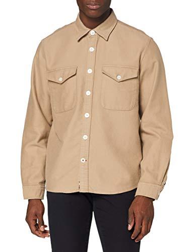 Tommy Hilfiger Herren Moleskine Overshirt Hemd, Batique Khaki, L