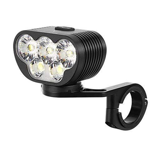 Magicshine Monteer 6500 Zeus Mountain Bike Headlight, 6500 lumens of Actual max Output MTB Light with 3X CREE XHP50.2 and 2xXM-L2 Spot/Food/Combo Beams, 10,000mAh Super high Capacity Battery Pack
