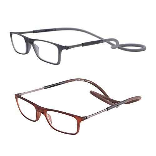 Pack de 2 gafas de lectura plegables por delante y