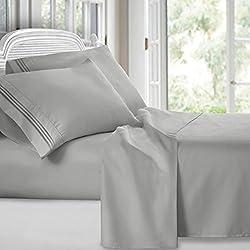 professional Clara Clark Premier 1800 Collection Deluxe 3-row Microfiber Bedding Set, Queen Size, …