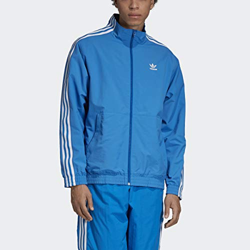 adidas Originals Men's Lock Up Track Top Jacket, Blue Bird, X-Large