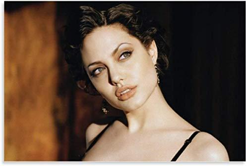 PóSter Y Estampados 60x90cm Angelina Jolie Tomb Raider Personalizado Pffice decoración del hogar Lienzo Pintura Pared Arte Cuadros Sin Marco