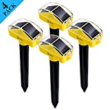 Redeo 4 Pack Mole Repellents Solar Powered Sonic Spike Vole Deterrent Repeller...