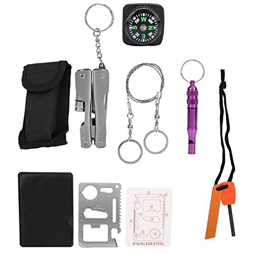FECAMOS Kit de Supervivencia al Aire Libre práctico y portátil Kit de Equipo de Emergencia Primeros Auxilios al Aire Libre, para almacenar píldoras, información Personal, etc.