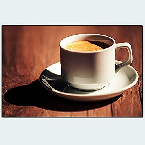 DIY Pintura Digital Pintura por números Taza de café fragante café Diamantes Hermosa Taza de café Italiano fragante Ventas @ Rubik S Cube Taladro Redondo 46 * 32 cm Taladro Completo