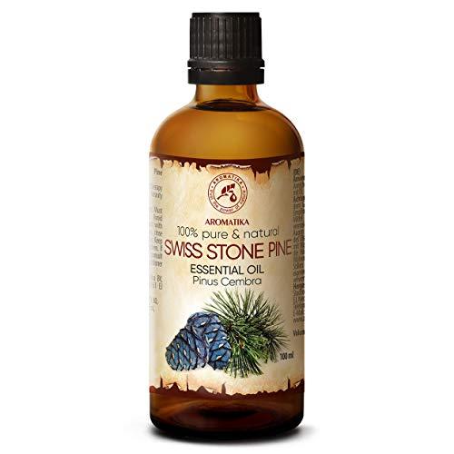 Olio Essenziale di Pino Svizzero 100ml - Pinus Cembra - Svizzera - 100% Puro & Naturale Olio di Pino - Ideale per la Bellezza - Capelli - Viso - Corpo