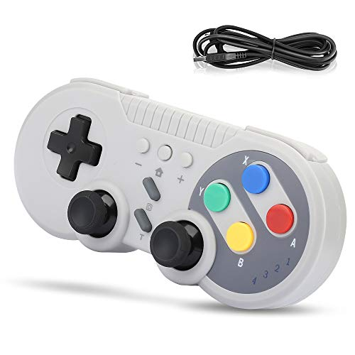 Welltop Controller wireless per Nintendo Switch, Controller Pro per Nintendo Switch Windows PC Gamepad ricaricabile Joystick Joypad Remote Supporta la funzione Turbo, doppia vibrazione